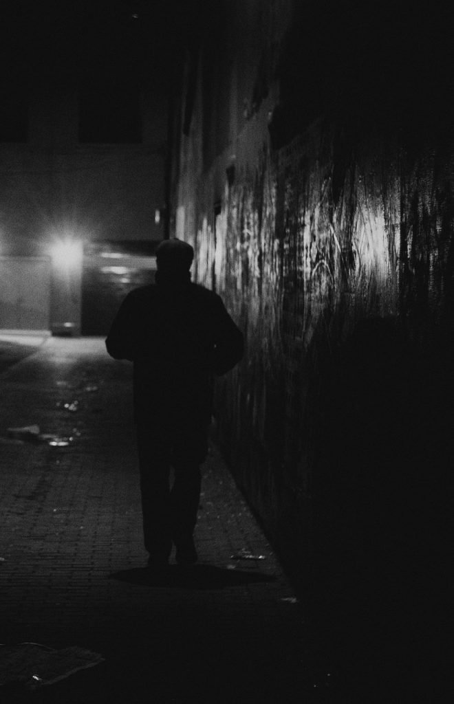 mike maguire Noir photography - Night Portrait