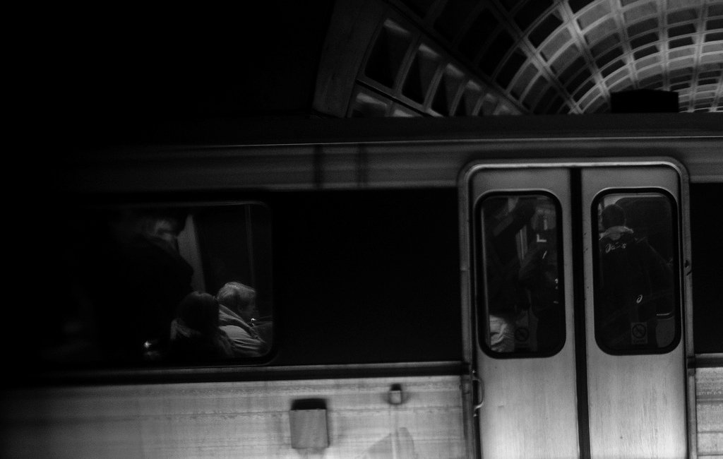 Noir photography Mike Maguire - Train