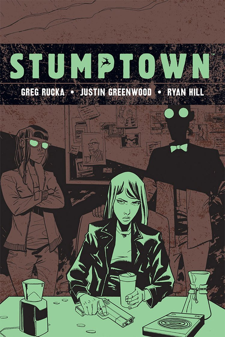 Stumptown Volume 4 The Case of a Cup of Joe greg rucka best mystery thriller book covers 2017