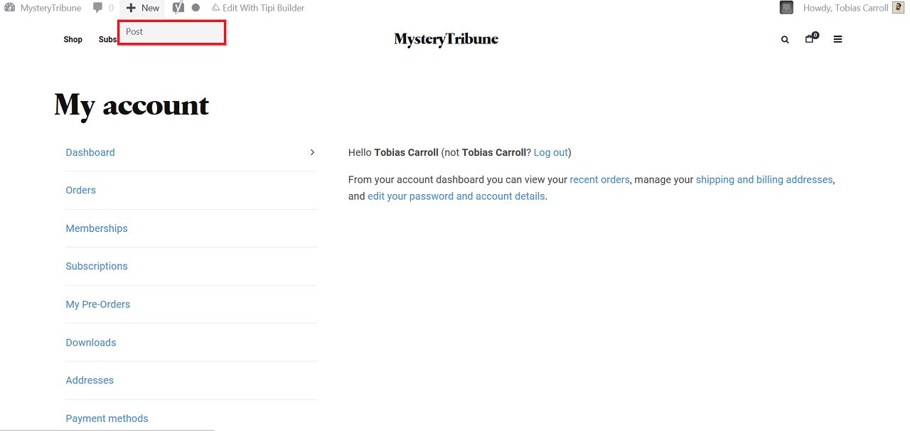 Write Posts - Mystery Tribune - Instructions