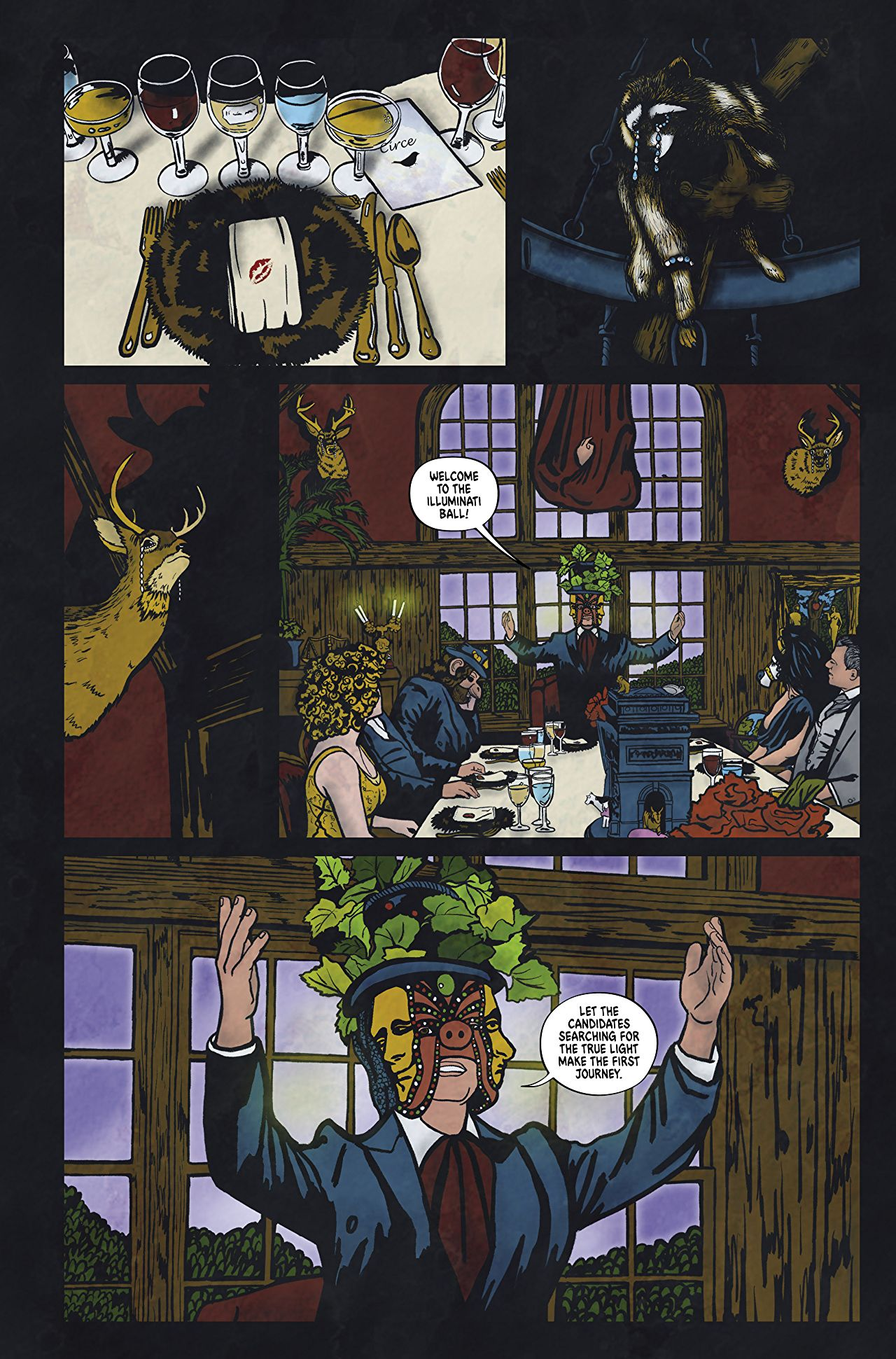 Graphic Novel The Illuminati Ball Is Eyes Wide Shut Crossed With The Island of Dr. Moreau 1
